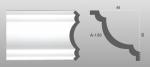 Beltéri polisztirol díszléc A-130 képe