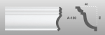 Beltéri polisztirol díszléc A-150 képe