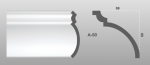 Beltéri polisztirol díszléc A-50 képe