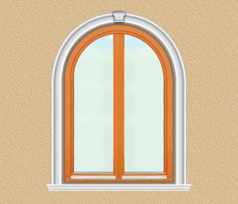 BD01 Boltíves ablak díszítése polisztirol díszléccel