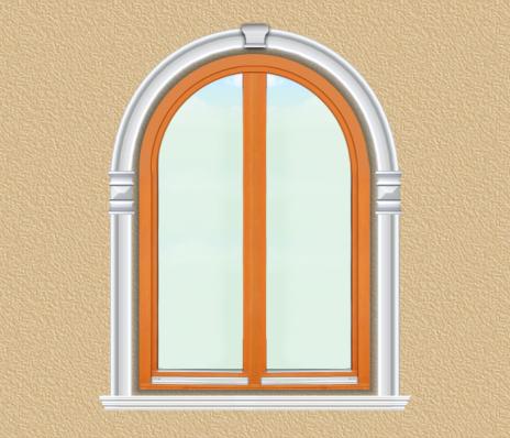 BD03 Boltíves ablak díszítése polisztirol díszléccel