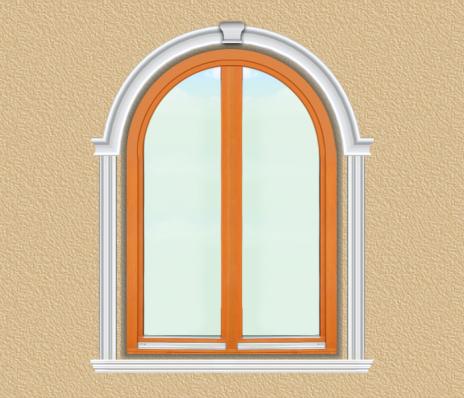 BD04 Boltíves ablak díszítése polisztirol díszléccel
