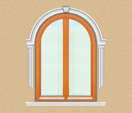 BD07 Boltíves ablak díszítése polisztirol díszléccel