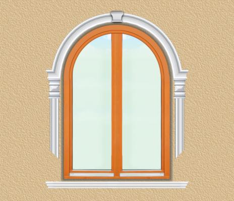 BD10 Boltíves ablak díszítése polisztirol díszléccel