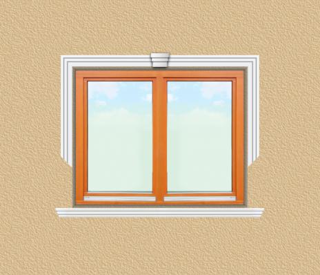 ED04 ablak díszítése egyféle polisztirol díszléccel