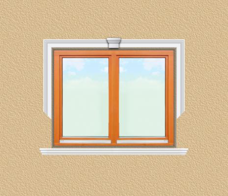 ED06 ablak díszítése egyféle polisztirol díszléccel
