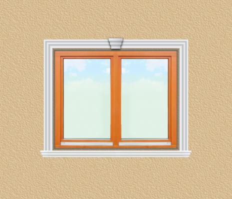 ED07 ablak díszítése egyféle polisztirol díszléccel