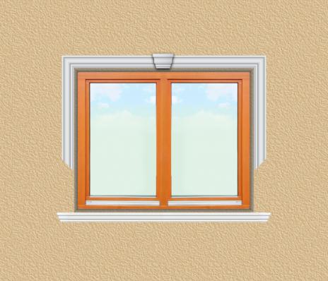 ED10 ablak díszítése egyféle polisztirol díszléccel