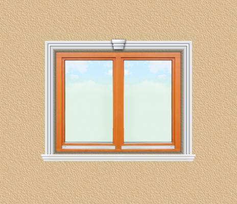 ED01 ablak díszítése egyféle polisztirol díszléccel